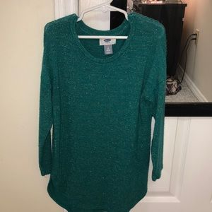 Green sparkling sweater